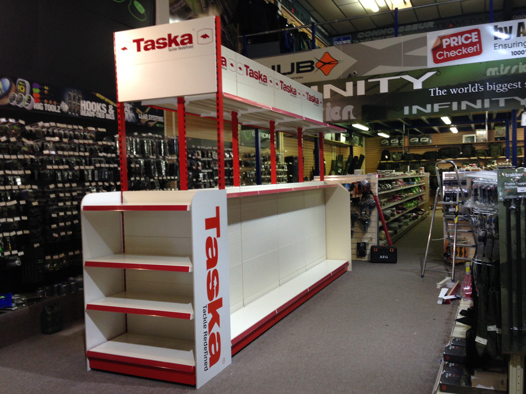 Branded retail shop Shelving