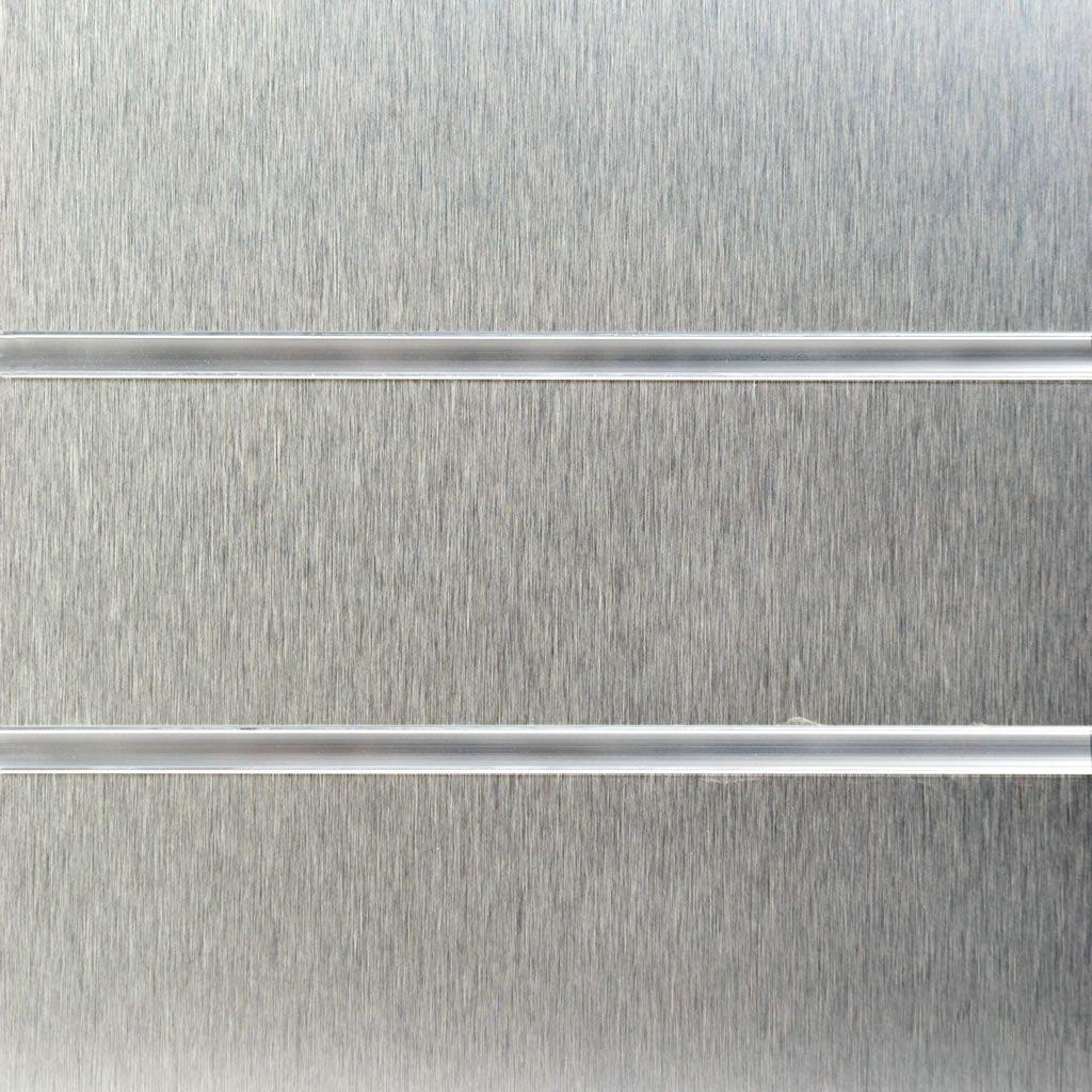 Brushed Ally Laminate Slatwall Panel