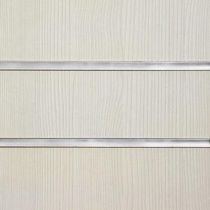Pino White Slatwall Panel